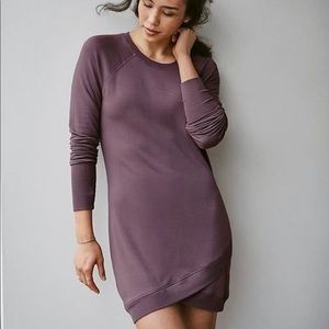 Athleta Crisscross Sweatshirt Dress